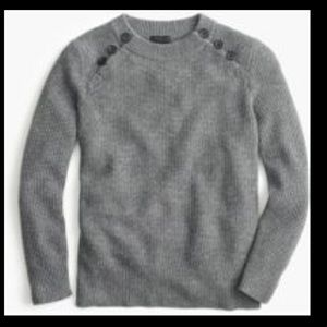 j. crew Italian cashmere waffle sweater w/ buttons